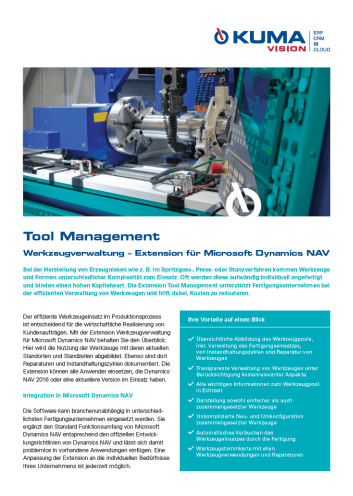 flyer tool management dynamics nav