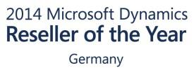 Logo Microsoft Dynamics Reseller of the Year 2014 Germany