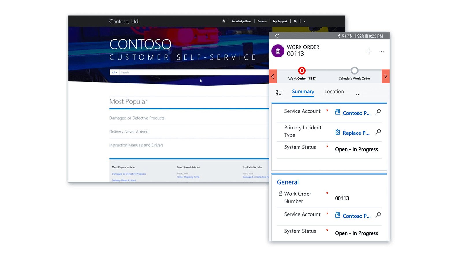 Microsoft Dynamics 365 for Field Service: First class customer service