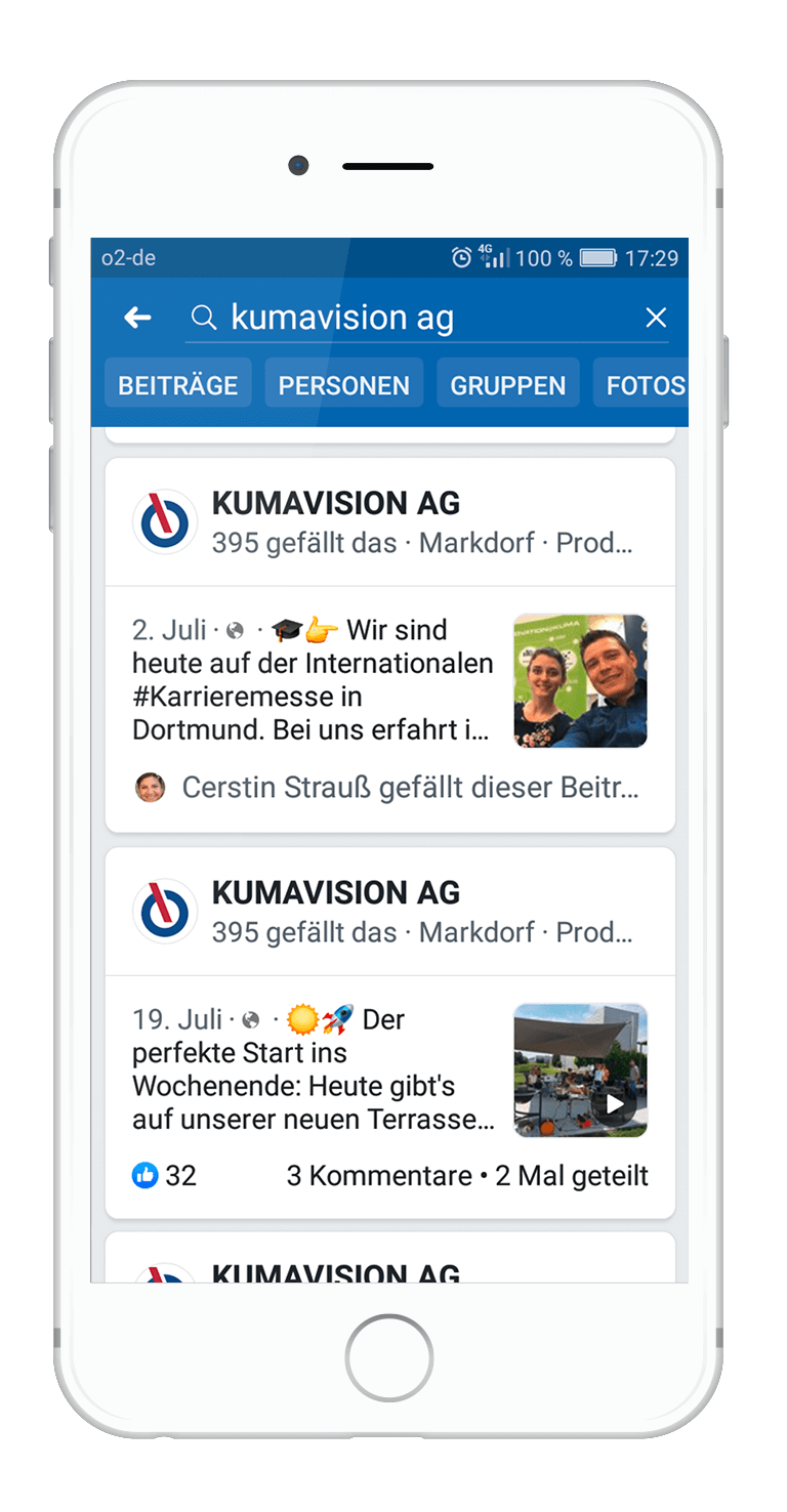 Facebook Newsfeed KUMAVISION