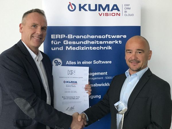 KUMAVISION receives award for best quality management