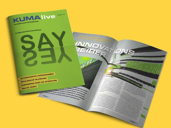 Customer magazine KUMAlive: recipe for success Industry software