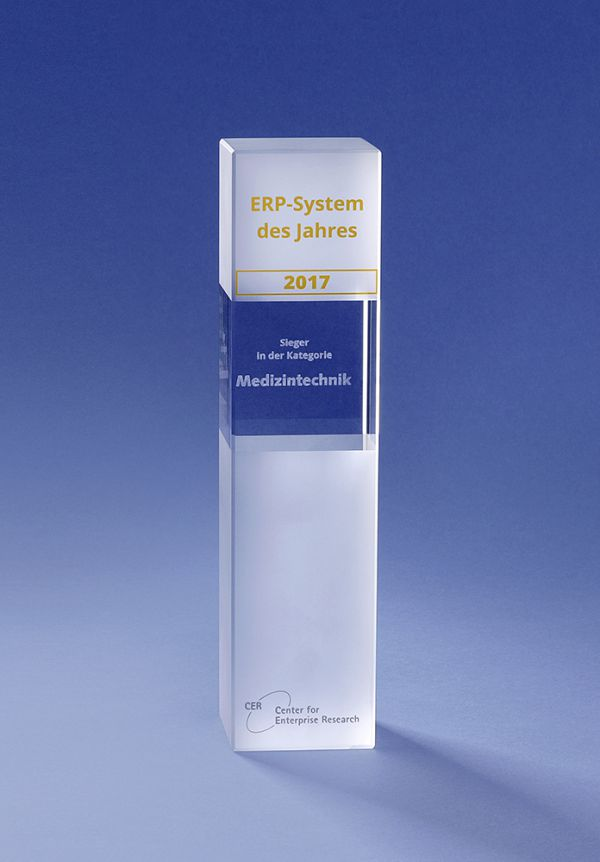 KUMAVISION ERP for medical technology is the ERP system of the year!